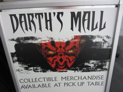 Darth's Mall is a popular merchandise location only open during Star Wars Weekends.