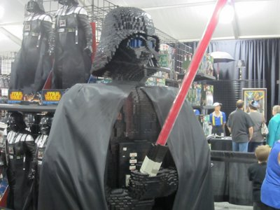 Even if you aren't shopping, there are fun things to see like this Vader made from Legos.