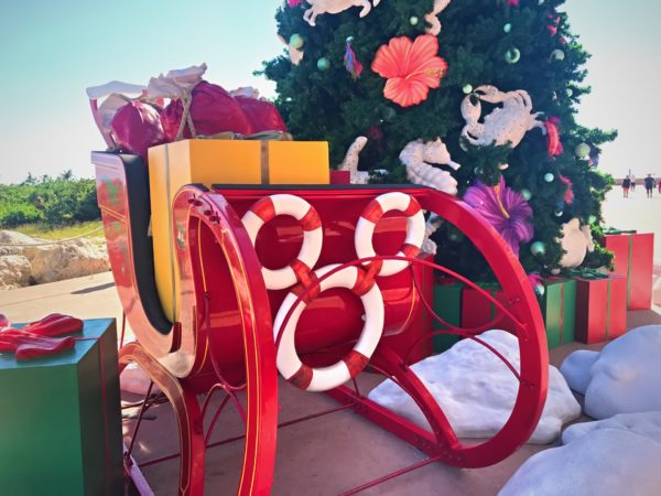 There's a hidden Mickey on this Santa Sleigh!