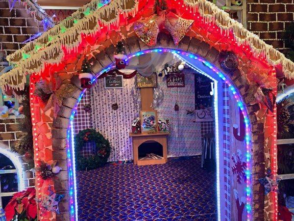 Check out this gingerbread house display!