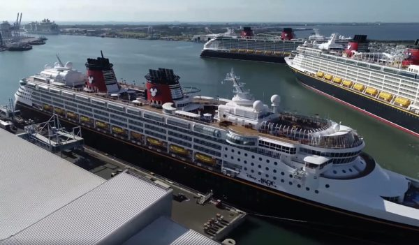 The Disney Magic is currently docked. Photo credits (C) Facebook/Port Canaveral. All Rights Reserved