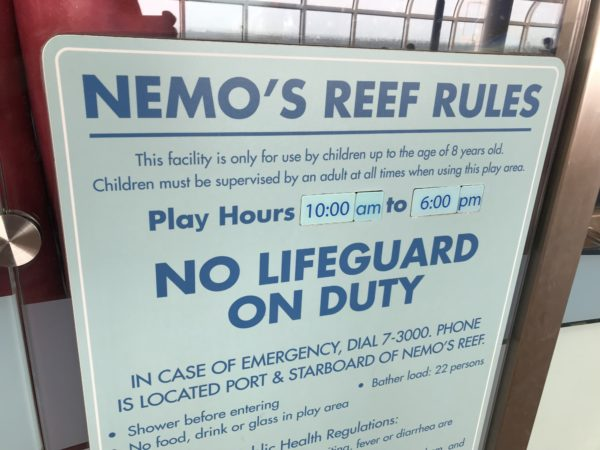 Disney does a safety exercise before setting sail, and there are safety rules posted around the ship. It's important!