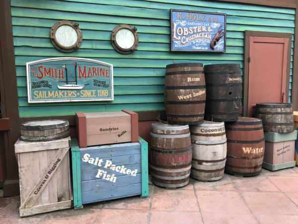 The Ports of Call aren't quite as clean and well-themed as Castaway Cay or the cruise ship.