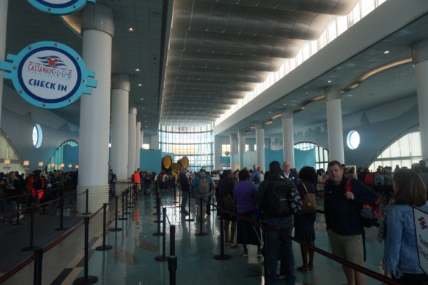 The Port Canaveral Terminal is really nice, but the real goal is to get on the ship. Try to get a low boarding number!