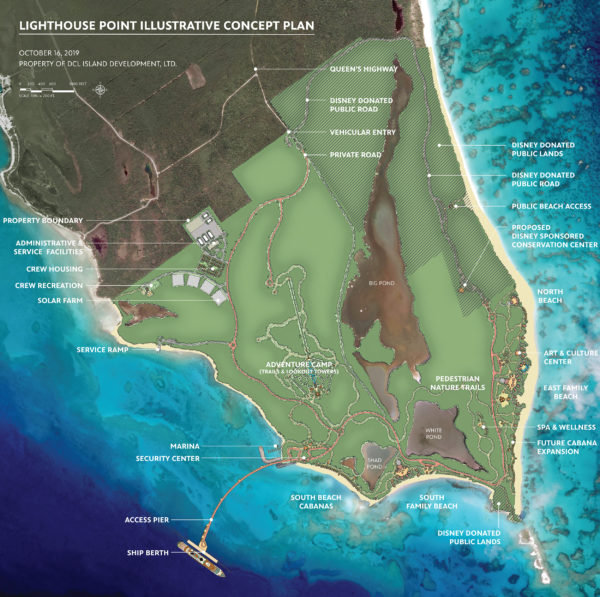 Projected location of Lighthouse Point. Photo credits @ Disney Enterprises, Inc. All Rights Reserved