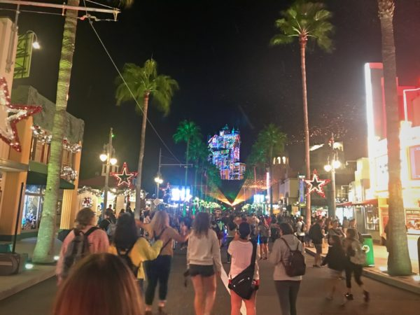 Park visitors are treated to a festive atmosphere down the length of Sunset Blvd.