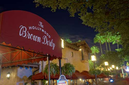 Relive the golden age of Hollywood at the Hollywood Brown Derby.