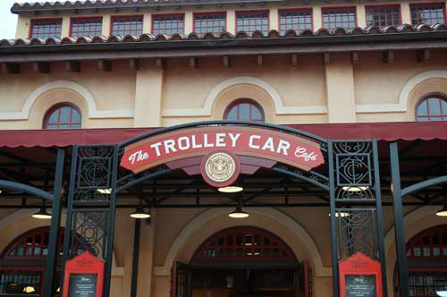 Get your Starbucks fix at the Trolley Car Café.
