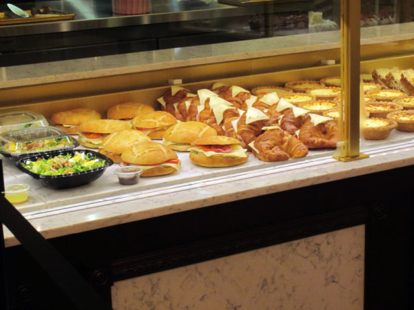 Les Halles Boulangerie-Patisserie serves everything from salads and sandwiches to French desserts.