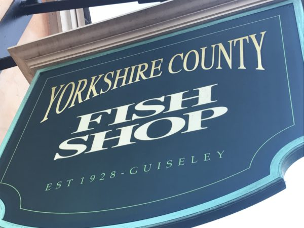 Our last stop is the Yorkshire County Fish Shop for Victoria Sponge Cake.