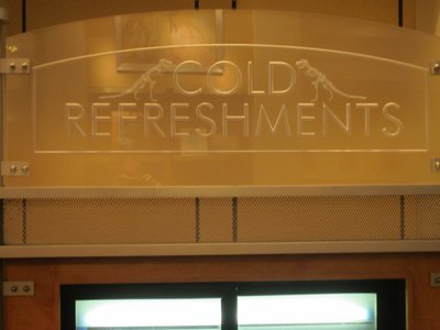 Even the refreshments sign looks professional and scientific.  Love the details!
