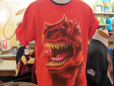 A fun t-shirt for those who love the scary side of dinosaurs.