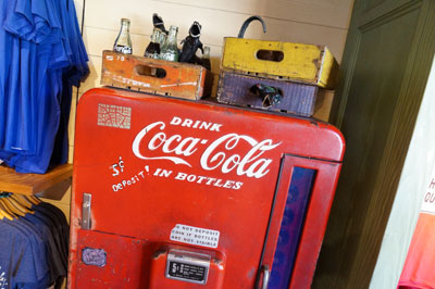 This old-time Coke machine is cool.