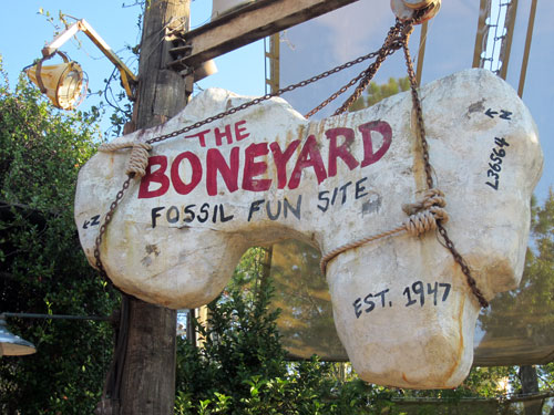 The boneyard is fun for little diggers.