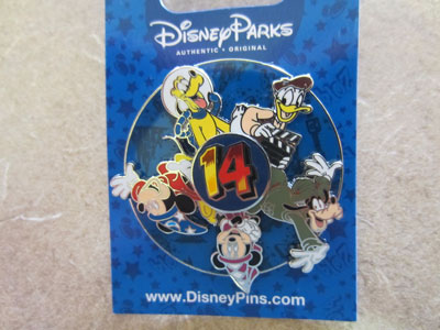 You can win this brand new 2014 Disney Trading pin - it's a spinner!