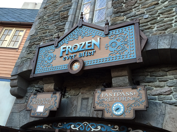 Frozen Ever After opened to huge wait times.