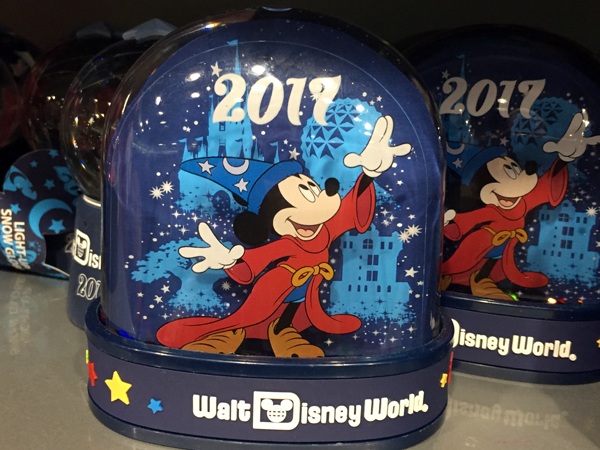 This snow globe would be perfect on a desk or in a bedroom to remind you of your 2017 Disney vacation.