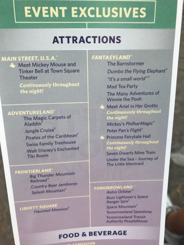 Most of the popular Magic Kingdom attractions are open for Disney After Hours.