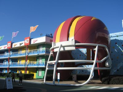 Disney's All Star Sport football building