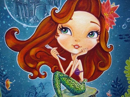 "Artwork of The Little Mermaid called ""Imagine"" by John Coulter. $375 for the giclee."