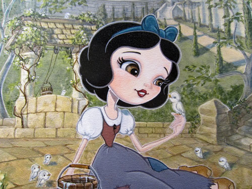 "Artwork of Snow White called ""Wish"" by John Coulter. $375 for the giclee."