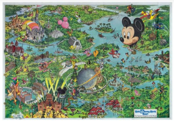 Walt Disney World Souvenir Map from 1992 may sell for up to $400.  Photo from Van Eaton Galleries.