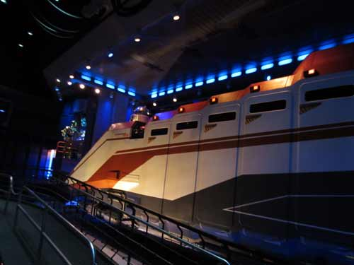 Star Tours is a 3D simulator ride that may induce motion sickness or claustrophobia.