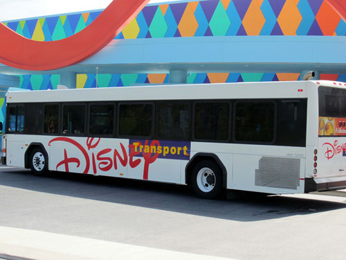 Disney bus service operates frequently and reliably.