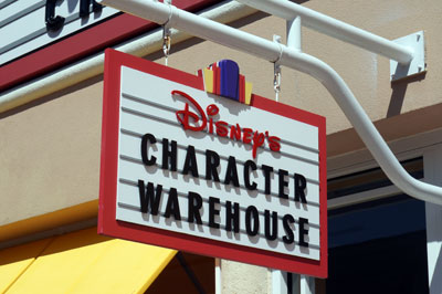 Welcome to Disney's Character Warehouse.