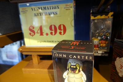 The movie John Carter was a bust. Disney is still trying to sell merchandise related to the movie at a deep discount.