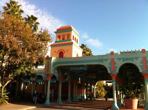 Entrance to Disney's Coronado Springs Resort.