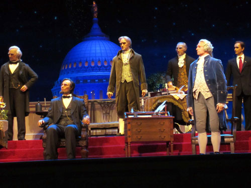 The Hall of Presidents became a top-tier E ticket attraction about a year after the Magic Kingdom opened.