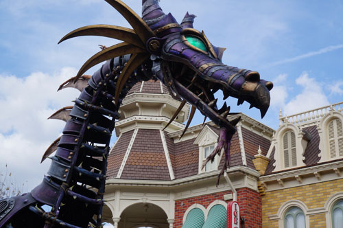 Disney didn't create the huge steampunk dragon in the Festival of Fantasy parade.
