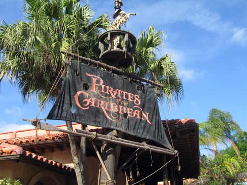Pirates of the Caribbean is an exciting dark ride with a quick plunge and a canon fight!