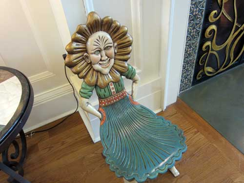 Disney's Boardwalk Resort has some unique elements - like this creepy - er - unique chair.