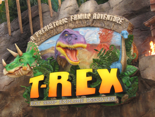Everything is larger than life at T-REX.