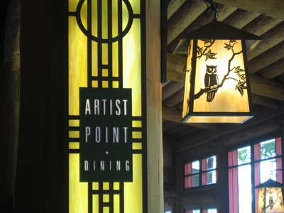 Artist Point is an elegant setting for fine dining.