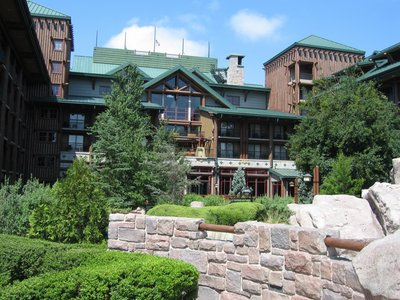 Today Disney's Wilderness Lodge backs up to Bay Lake.