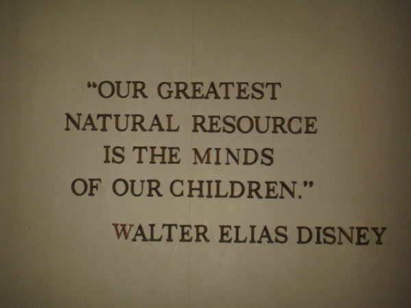 Education has always been at the forefront of the Disney Company's strategy.