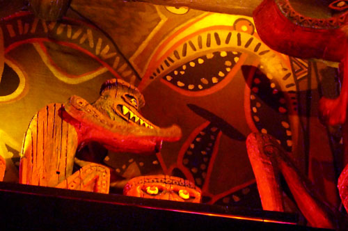 Tiki drummers know how to keep the beat going.