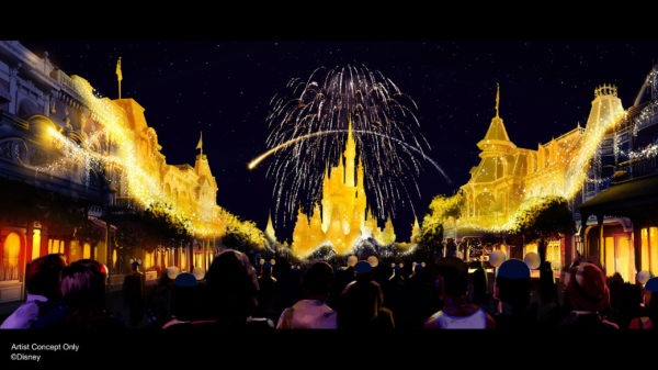"""A new nighttime spectacular, """"Disney Enchantment,"""" will debut October 1, 2021, at the Magic Kingdom. Photo credits (C) Disney Enterprises, Inc. All Rights Reserved"""