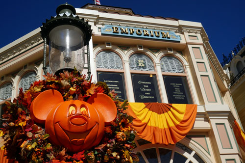 The Emporium is all ready for Halloween on the outside and in the inside.