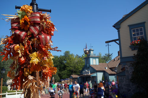 You can find a few fall decorations in Liberty Square too.