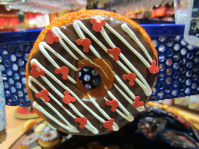 Here is a nice plastic doughnut with Mickey sprinkles.