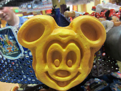 "What says ""good morning"" better than a Mickey waffle?"