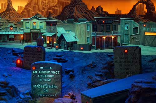 The Frontierland Shootin' Arcade has plenty of interesting targets.