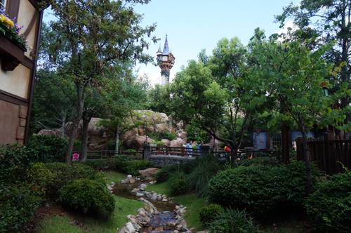 The Tangled Rest Area is both beautiful and convenient offering guests much needed restrooms.