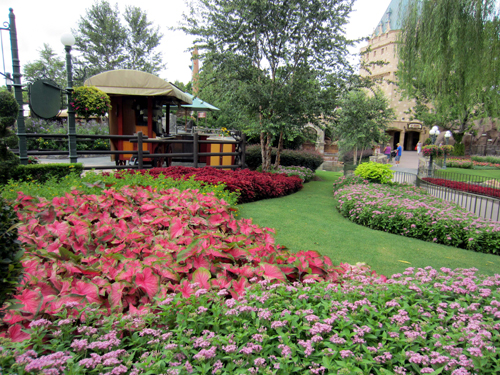 The gardens in the Canada Pavilion are modeled after famous gardens in Canada.
