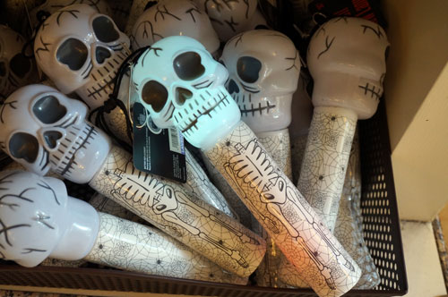 Glowing skull flashlight.
