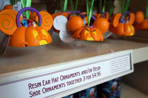 Resin ear hat ornaments.